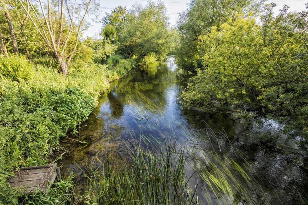Alacsony vízállású angliai folyócska