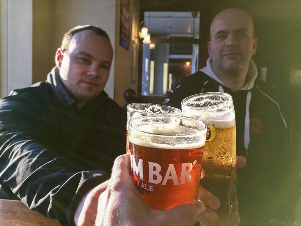 AMH csapatépítő tréning, beer whit the fishingmates